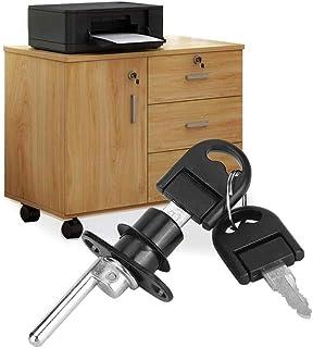 Armoire Avec Serrure - Fichier Cabinet Lock 2pcs Furniture Armoire tiroir Classeur serrure avec clés Bureau de la sécurité...