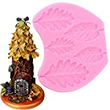 ブラックベリーオークの葉シリコンモールドカップケーキフォンダンケーキデコレーションツールナッツベリーケーキデコレーションチョコレートガンパストモールド