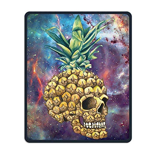 Gaming-Mauspad, Mauspads Colorful Galaxy Skull Pineapple Rectangle Rubber Mousepad Gaming Mouse Pad 9.8x12 Inch for Notebooks,Desktop Computers