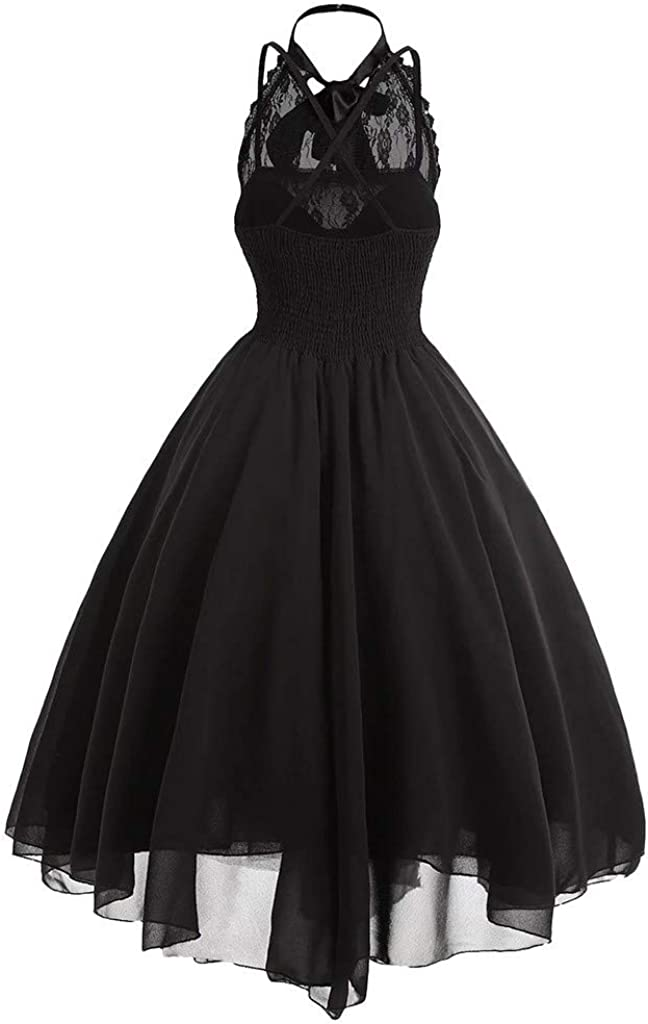 Vintage Dress Sleeveless Sexy Dress Lace Decor Ball Gown Slim Cocktail Dresses for Women