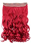 PRETTYSHOP 40cm Clip In Extensions Haarverlängerung Haarteil Voluminös Gewellt Intensivrot C61-1