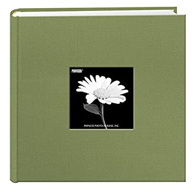 Fabric Frame Cover Photo Album 200 Pockets Hold 4x6 Photos, Sage Green