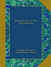 Questions Set at the Examinations