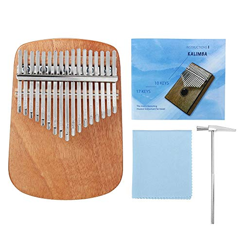 ZoSiP Kalimba Sanza Finger Daumen Piano 17 Schlüssel Mbira Mahagoni Kalimbas Volle Feste Furnierrundeckenplatte Daumenklavier Finger Percussion (Color : 2, Size : One Size)