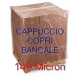 IP venduto da PellacaniDanteSnc Telo per Pallet BANCALE LDPE cm 120+55+55x170 Impermeabile 140 Micron
