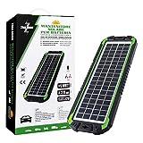 ZIM&MANN Pannello Solare Portatile, Batteria di Ricambio e Caricabatterie per Auto e Barca, on Clip a Coccodrillo, Adattatore, 5W 12V