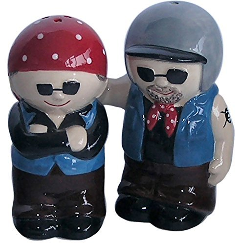 AWESOME Biker Couple Salt & Pepper Set by Simply Mugs