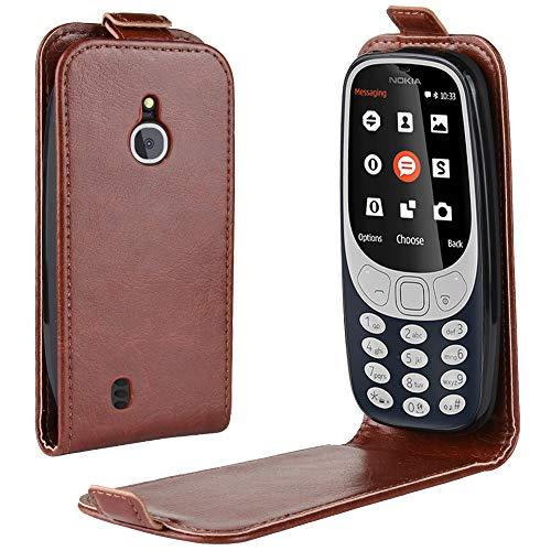 Oujiet-eu CN Custodia per Nokia 3310 3G 4G Custodia Flip in Pelle PU + Cover Case in Silicone Fissa Protezione 2