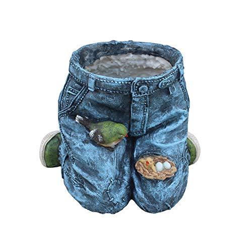 Jeans Creative vorm hars bloempot vaas retro-Amerikaanse land club tuindecoratie