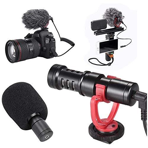 Yuyanshop Kit de micrófono de condensador profesional ligero y portátil con soporte a prueba de golpes y micrófono de entrevista Windsheid para estudio, podcasting y streaming