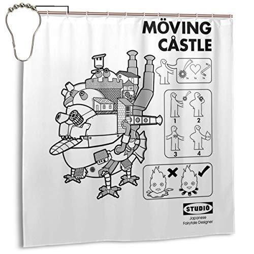 GSEGSEG Cortina de Ducha de Tela de poliéster Impermeable Ghibli IKEA Howls...