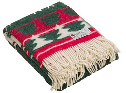 Barker Textile バーカーテキスタイル ウール 毛布 トナカイ 柄 シングル