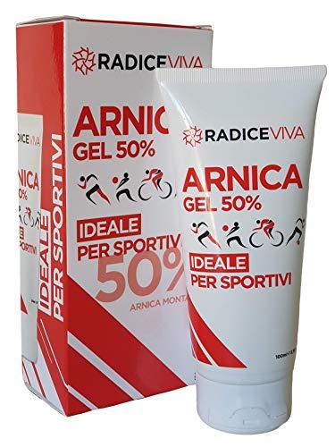 ARNICA GEL 50% -RADICEVIVA-IDEAAL VOOR SPORT-Pre en Post Workout, sterke en geconcentreerde actie, verbetert de prestaties, geeft spier- en gewrichtswelzijn, niet-vettig, snelle opname (100 ml)