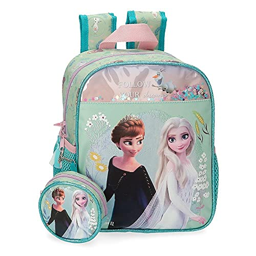 Disney Frozen Follow Your Dreams Mochila Guardería Azul 21x25x10 cms Poliéster 5,25L