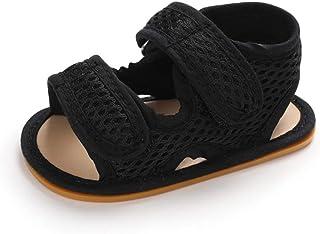 Sandale Bout Ouvert Bébé Garçon Été Chaussure Bebe Plat Caoutchouc Antiderapant Scratch