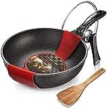 TINGFENG Padella Wok Non-Stick Wok Domestico Cucina Cucina Bistecca frittura Padella Stufa a Gas Cucina fornello Universale
