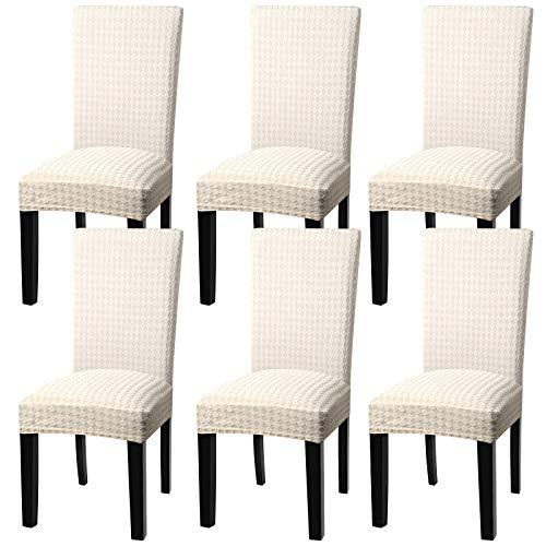 YISUN Stuhlhussen Stretch, Abnehmbare Waschbar Stuhlbezug Hussen Sitzfläche Elastisch Universal Stuhl Schutzhülle Set für schwingstuhl...
