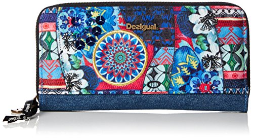 Desigual Zip Around Culture Club - Borse per donna, blue