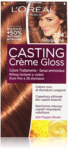 L'Oréal Paris - Casting Crème Gloss, Colore Trattamento, Senza ammoniaca, 724 Nougatine - 1 confezione