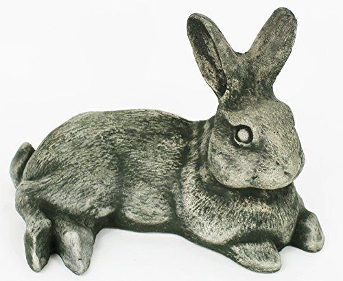 Laying Rabbit Home Garden Statues Concrete Yard Art