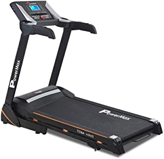 PowerMax Fitness TDM-100S-V2 1.5HP (3HP Peak) Motorized Treadmill with Free Installation Assistance, Home Use & Automatic ...