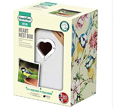 Gardman A01688 White Heart Nest Box Gift by Gardman Ltd
