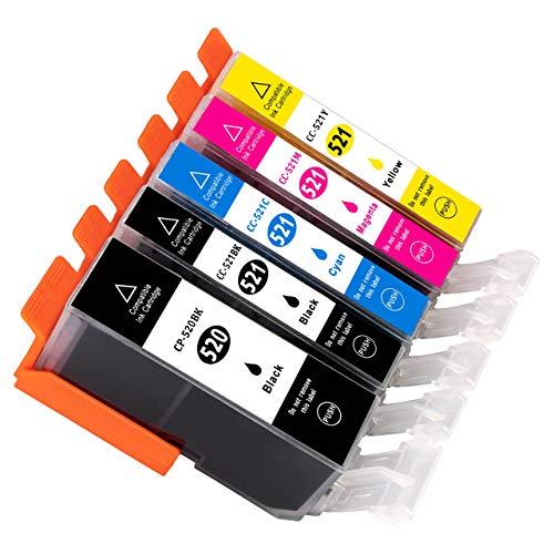 ESMOnline 5 komp. XL Druckerpatronen als Ersatz für Canon Pixma iP3600 iP4600 iP4700 MP540 MP550 MP560 MP620 MP630 MP640 MP980 MP990 MX860 MX870