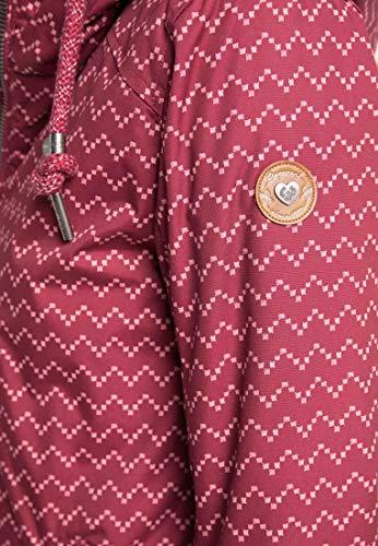 Ragwear Zuzka Zig Zag Jacket, Wine Red, L