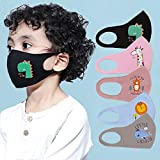 KaiFland Kids Cartoon Animal Print Washable Breathable Anti Haze Dust Face Mouth Cover for Home Schwarz