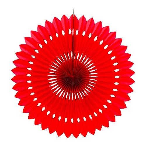 SKYLANTERN Rosace Papier 50 cm Rouge