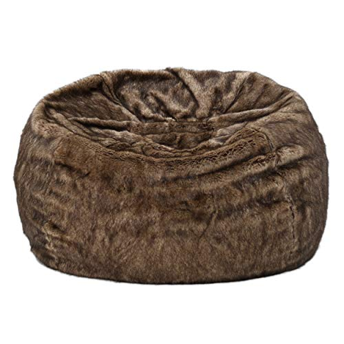 Plush Faux Fur Beanbag Chair