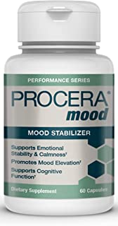 Procera Mood - Natural Anxiety & Stress Relief Supplement   Mood Balance Adaptogens & Serotonin Booster   Ashwagandha, Rho...