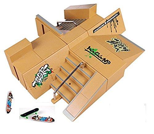 Kidsdream® – Parque de skate de 8 piezas con 3 skates para controlar con tus dedos