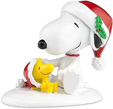 Department 56 Peanuts Village Happy Holiday's Snoopy and Woodstock Accessory Figurine