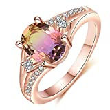 Janly Clearance Sale Anillos para mujer, piedras naturales, anillo de compromiso para novia, boda, compromiso, joyería de personalidad, tamaño 5-11, regalo de cumpleaños para damas y niñas (10)