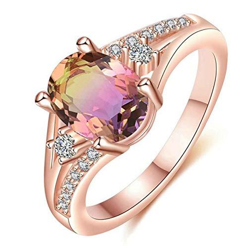 Janly Clearance Sale Anillos para mujer, piedras naturales, anillo de compromiso para novia, boda, compromiso, joyería de personalidad, tamaño 5-11, regalo de cumpleaños para damas y niñas (9)