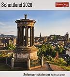 Schottland Postkartenkalender 2020. Wochenkalendarium. Blockkalender. Format 16 x 17,5 cm - Harenberg