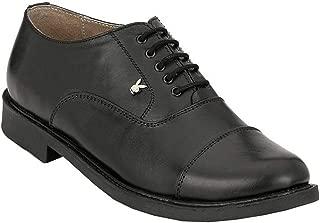 Playboy PB 2503 Leather Formal & School Shoe for Boys-5 Black