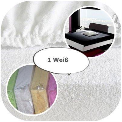 Spannbettlaken, Spannbetttuch, mit elastischem Jersey, 22Farben und Größen 9, weiß, 80 x 160