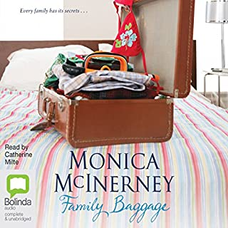 Family Baggage                   By:                                                                                                                                 Monica McInerney                               Narrated by:                                                                                                                                 Catherine Milte                      Length: 15 hrs and 20 mins     14 ratings     Overall 4.3