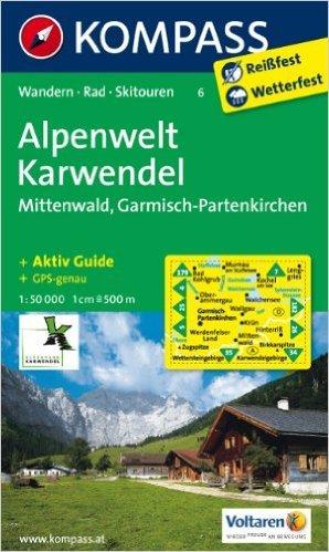 Alpenwelt Karwendel - Mittenwald - Garmisch-Partenkirchen: Wanderkarte mit Tourenführer, Radrouten und Skitouren. GPS-genau. 1:50000 (KOMPASS-Wanderkarten) ( Folded Map, Dezember 2010 )