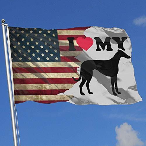 AOTADer Banderas Exteriores Bandera EE. UU. Amo mi