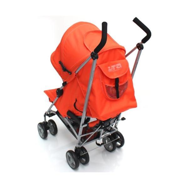 Zeta Vooom Stroller (Orange) ZETA Suitable From Birth Unique drop down privacy hood with parent window Complete with raincover 6