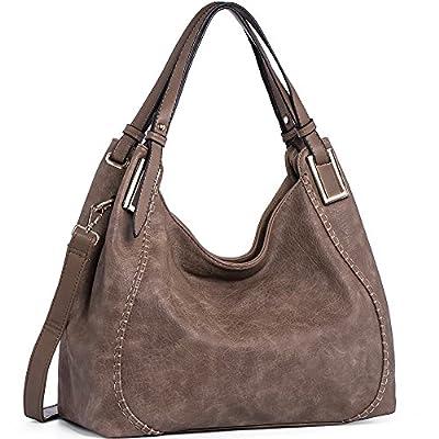 JOYSON Women Handbags PU Leather Shoulder Bags Top-Handle Satchel Tote Bags Purse