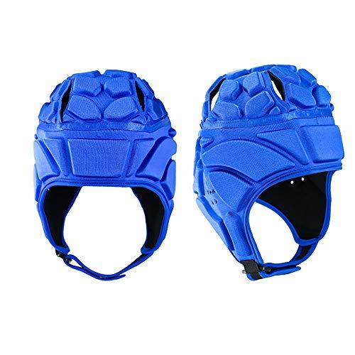 Hongma Rugby Kopfbedeckung Baseball Helm S/M/L/XL Rot Blau Schwarz für Sport Schutz MEHRWEG