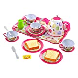 Playgo - Set metal de Té, 21 piezas, (ColorBaby 44592)