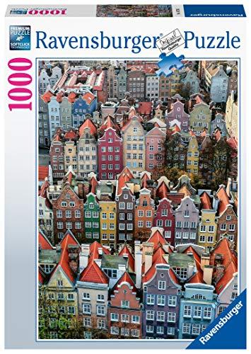 Ravensburger Puzzle, Puzzle 1000 Piezas, Gdańsk - Polonia, Puzzles para Adultos, Puzzles Paisajes, Rompecabezas Ravensburger de Alta Calidad