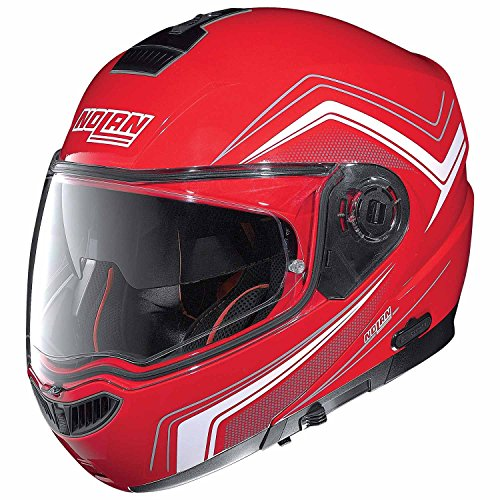 Nolan N104 ABSOLUTE COMO Klapphelm Motorrad Polycarbonat n-com - Corsa rot Größe 3XL