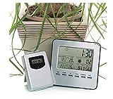 Mmsww Multifunktions, Wireless Indoor-und Outdoor-Temperatur-Hygrometer, Wetterstation, Wecker, Uhr, Kunststoff, Elektronische Fieberthermometer,