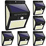 Solar Lights Outdoor - New Upgrade 144 LEDs Motion Sensor Light Outdoor Solar Powered Security Light IP65 Waterproof Led Motion Sensor Outdoor Light Bright Wireless Wall Lights with 3 Modes(6 Pack)